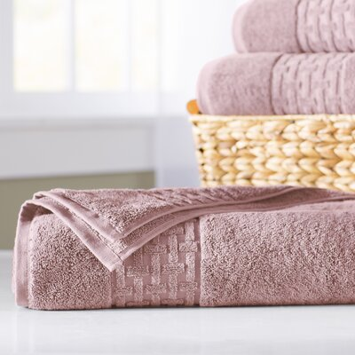Pierce Bath Sheet Color: Rose