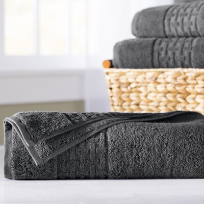 Pierce Bath Sheet Color: Charcoal Gray
