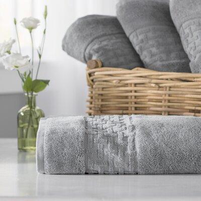 Pierce Bath Towel Color: Stone Grey