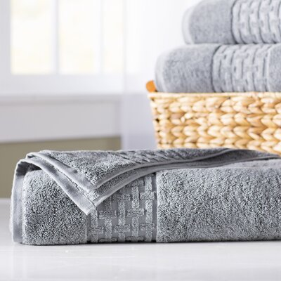 Pierce Bath Sheet Color: Stone Grey