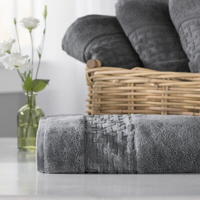 Pierce Bath Towel Color: Charcoal Gray