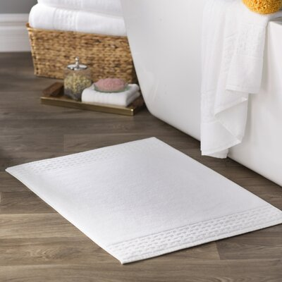 Pierce Bath Mat Color: White