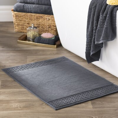 Pierce Bath Mat Color: Charcoal Gray