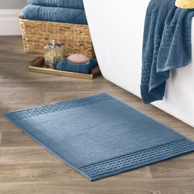 Pierce Bath Mat Color: King Fisher Blue