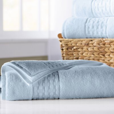Pierce Bath Sheet Color: Sky Blue