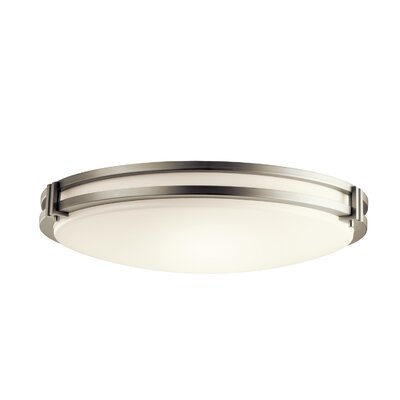 Vannote 1-Light LED Flush Mount Fixture Finish: Brushed Nickel, Shade Color: Acrylic Diffuser, Size: 4.75 H x 24 W x 4.75 D