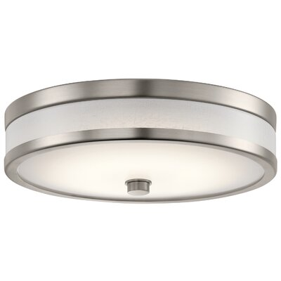 Holgate LED Flush Mount Fixture Finish: Champagne, Size: 3.75 H x 12 W x 3.75 D