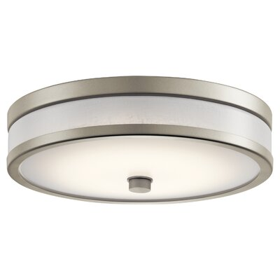 Holgate LED Flush Mount Fixture Finish: Brushed Nickel, Size: 4.5 H x 15 W x 4.5 D