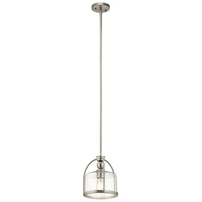 Deann 1-Light Mini Pendant Finish: Brushed Nickel