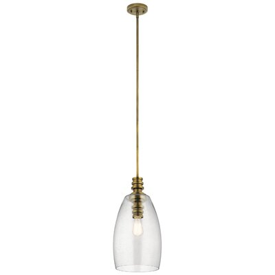Hoisington 1-Light Mini Pendant Finish: Natural Brass