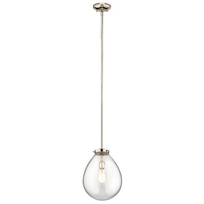 Durell 1-Light Mini Pendant Size: 19.75 H x 14 W x 14 D