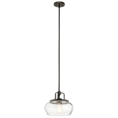 Holmquist 1-Light Mini Pendant Fixture Finish: Olde Bronze
