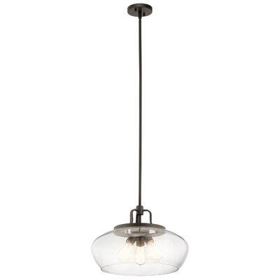 Holmquist 3-Light Globe Pendant Fixture Finish: Olde Bronze
