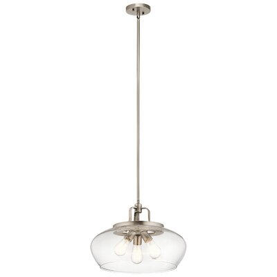 Holmquist 3-Light Globe Pendant Fixture Finish: Antique Pewter