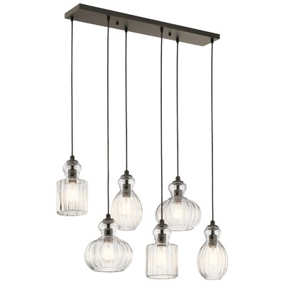 Mcdougal 6-Light Kitchen Island Pendant Finish: Olde Bronze