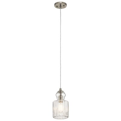 Mcdougal 1-Light Mini Pendant Fixture Finish: Brushed Nickel