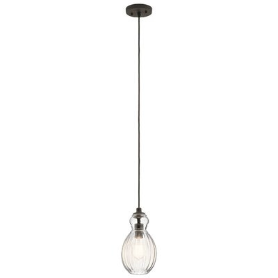 Mcdougal 1-Light Mini Pendant Fixture Finish: Olde Bronze