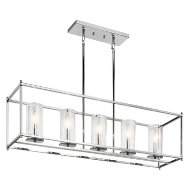 Kleiman 5-Light Kitchen Island Pendant Finish: Chrome