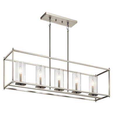 Kleiman 5-Light Kitchen Island Pendant Finish: Brushed Nickel