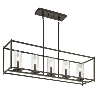 Kleiman 5-Light Kitchen Island Pendant Finish: Olde Bronze