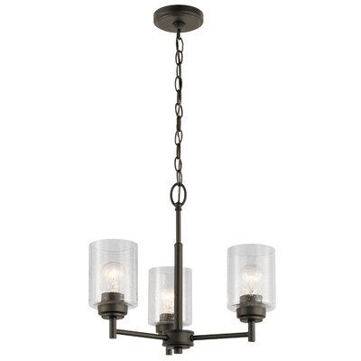 Honea 3-Light Mini Chandelier Finish: Olde Bronze