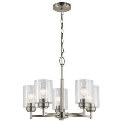 Honea 5-Light Candle-Style Chandelier Finish: Brushed Nickel