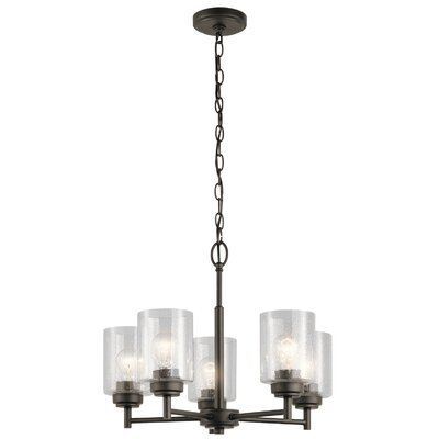 Honea 5-Light Candle-Style Chandelier Finish: Olde Bronze