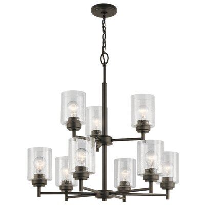 Honea 9-Light Candle-Style Chandelier Finish: Olde Bronze
