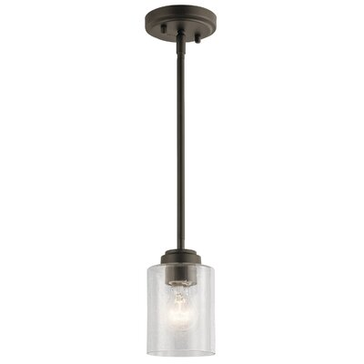 Honea 1-Light Mini Pendant Fixture Finish: Olde Bronze