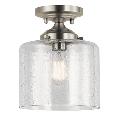 Honea 1-Light Semi Flush Mount Fixture Finish: Brushed Nickel