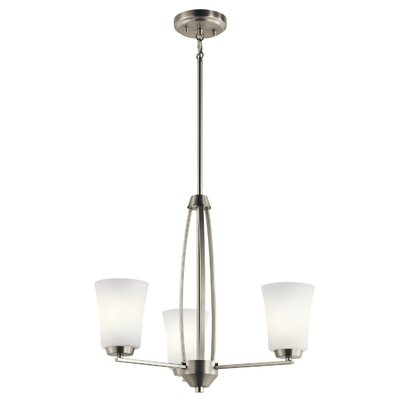 Hong 3-Light Mini Chandelier Finish: Brushed Nickel