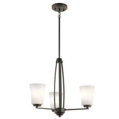 Hong 3-Light Mini Chandelier Finish: Olde Bronze