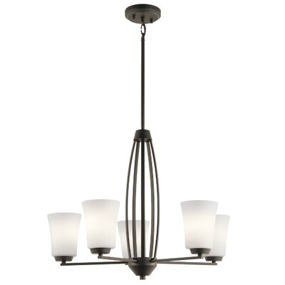 Hong 5-Light Candle-Style Chandelier Finish: Olde Bronze