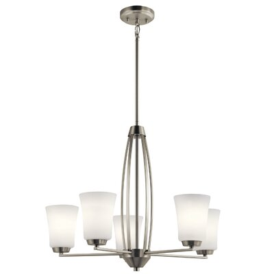 Hong 5-Light Candle-Style Chandelier Finish: Brushed Nickel