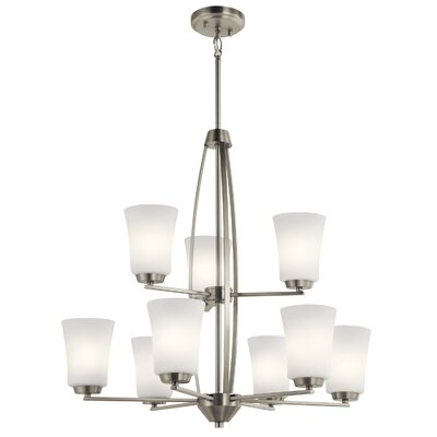 Hong 9-Light Candle-Style Chandelier Finish: Brushed Nickel
