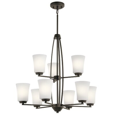 Hong 9-Light Candle-Style Chandelier Finish: Olde Bronze