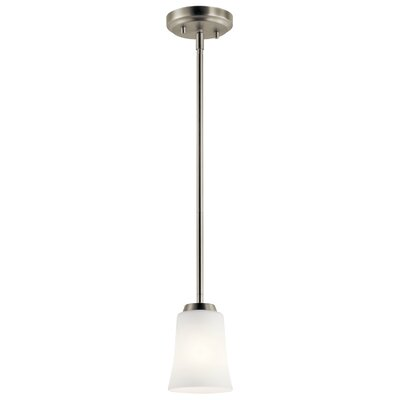 Hong 1-Light Mini Pendant Fixture Finish: Brushed Nickel