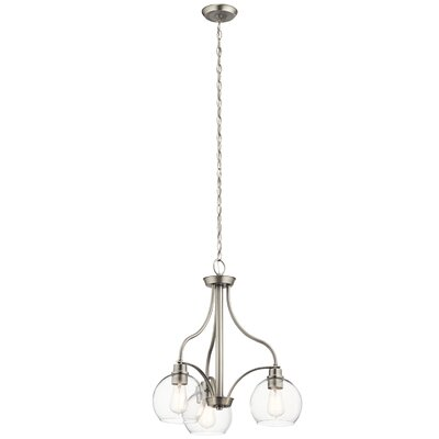 Hoover 3-Light Mini Chandelier Finish: Brushed Nickel
