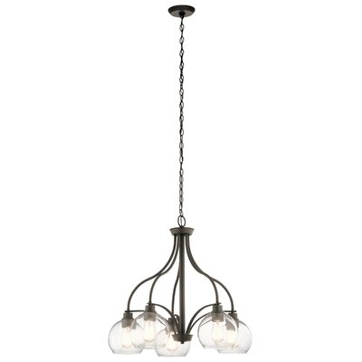 Hoover 5-Light Candle-Style Chandelier Finish: Olde Bronze