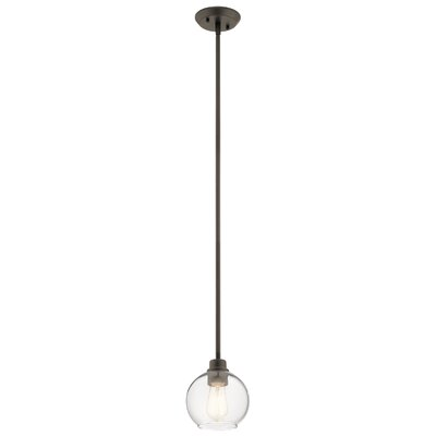 Hoover 1-Light Mini Pendant Fixture Finish: Olde Bronze