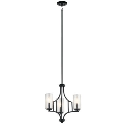 Vannoy 3-Light Mini Chandelier Finish: Distressed Black
