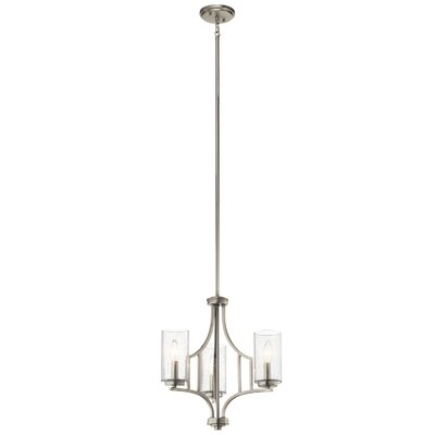 Vannoy 3-Light Mini Chandelier Finish: Brushed Nickel
