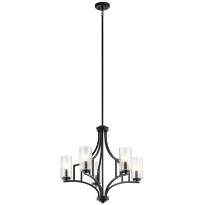 Vannoy 5-Light Candle-Style Chandelier Finish: Distressed Black