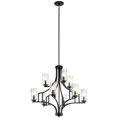 Vannoy 9-Light Candle-Style Chandelier Finish: Distressed Black