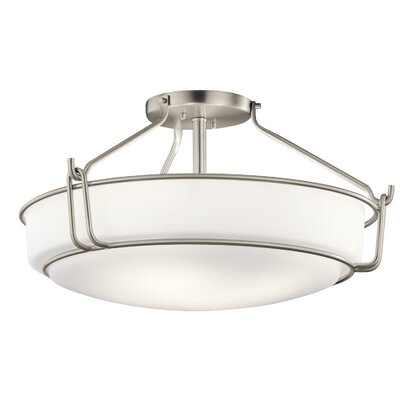 Horan 4-Light Semi Flush Mount Fixture Finish: Brushed Nickel