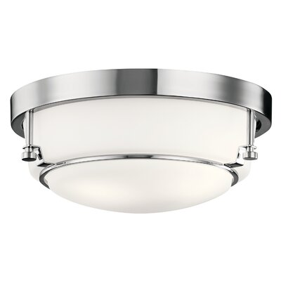 Horatio 2-Light Flush Mount Fixture Finish: Chrome