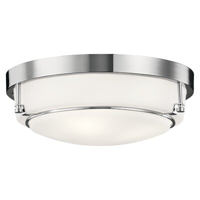 Horatio 3-Light Flush Mount Fixture Finish: Chrome