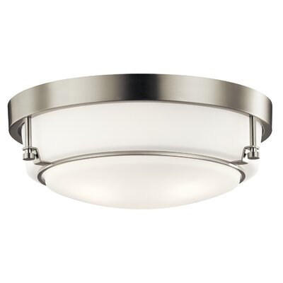 Horatio 3-Light Flush Mount Fixture Finish: Brushed Nickel