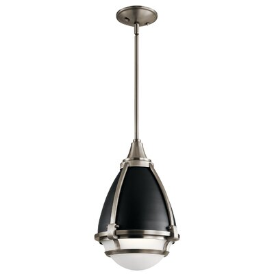 Duval 1-Light Mini Pendant Fixture Finish: Classic Pewter