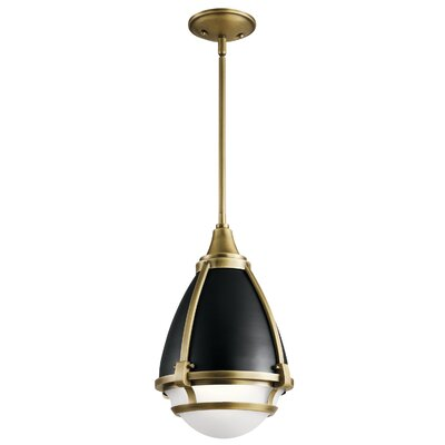 Duval 1-Light Mini Pendant Fixture Finish: Natural Brass